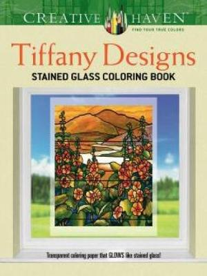 TIFFANY DESIGNS STAINED GLASS COLORING