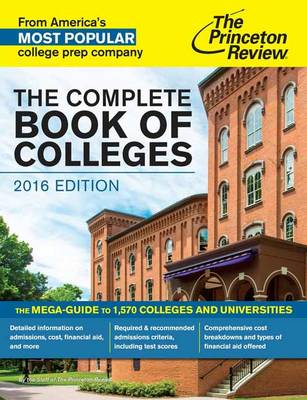 THE COMPLETE BOOK OF COLLEGES, 2016 ED