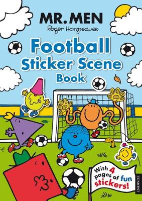 MR MEN FOOTBALL STICKER SCENE