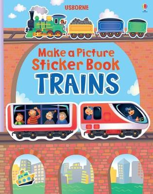 MAKE A PICTURE STICKER BOOK: TRAINS