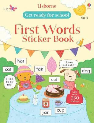 GET READY FOR SCHOOL FIRST WORDS STICKER