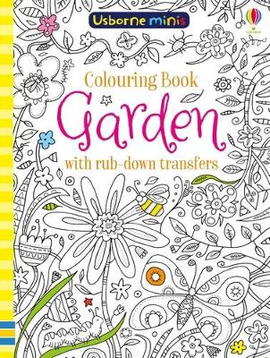 COLOURING BOOK GARDEN WITH RUB-DOWN TRAN