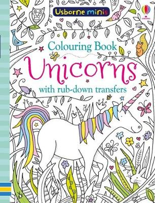COLOURING BOOK UNICORNS WITH RUB-DOWN TR