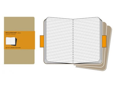 Σημειωματάριο Moleskine Cahier Journal Ruled Kraft - Medium (3 Τεμάχια)