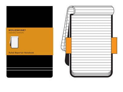 Σημειωματάριο Moleskine Reporter Ruled Black - Small