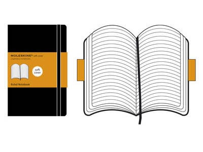Σημειωματάριο Moleskine Softcover Ruled Black - Small