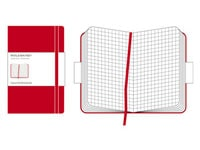 Σημειωματάριο Moleskine Hardcover Squared Red - Small